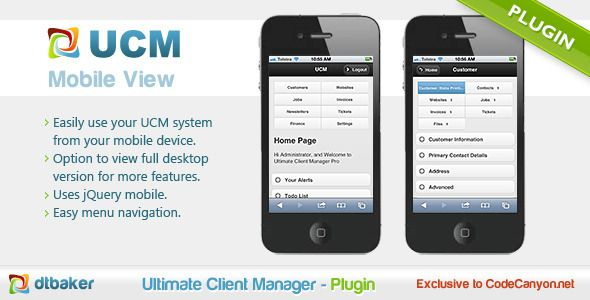 UCM Plugin: Mobile Device View