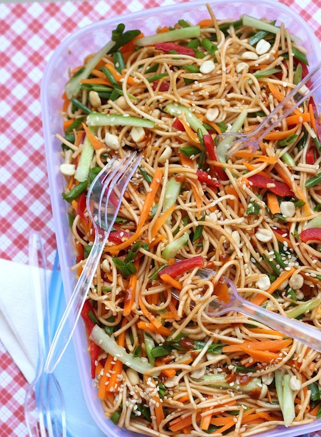 Saucy Sesame Noodles are so delicious + easy to make.