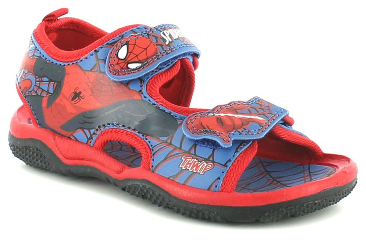 SPIDERMAN Sandals Boys Size 7 8 9 10 11 12 13 1 Blue Red Beach New Shoes Velcro
