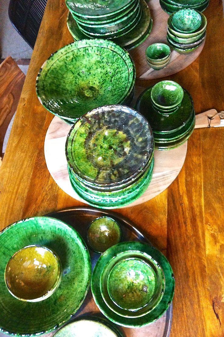 tamgroute assiette vaisselle handmade artisanal maroc plate