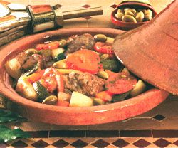 cuisine marocaine - recette marocaine du tajine d'agneau berbère
