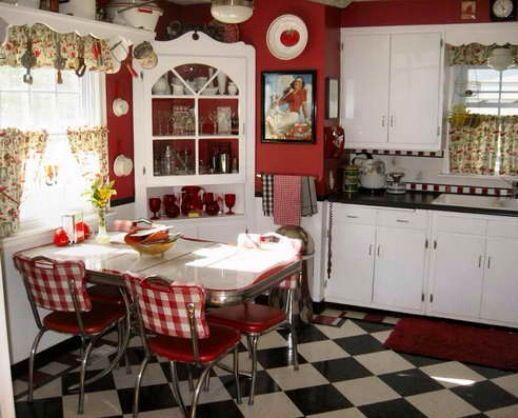 Vintage Red Kitchen My Dream Kitchen