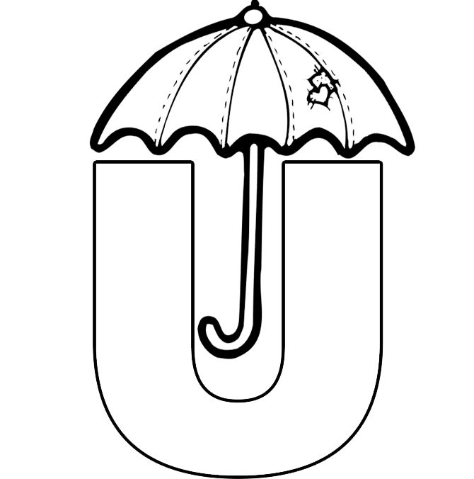 Free Letter U Coloring Worksheet Pdf Twistbee Coloring Pages