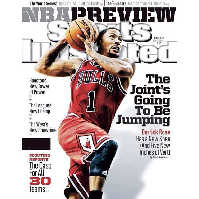 Check it out... Derrick Rose on the cover of the regional Sports Illustrated NBA Preview issue hitting the newsstands soon!