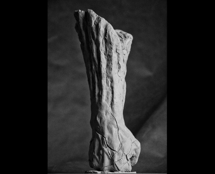 Michal Jackowski, SELF DESTRUCTIVE, terracota, 2016  #sculptures #body #artact #humans #antique #pinart #creative #passion #love #art #classic #hand #exhibition #polishart #white #hard