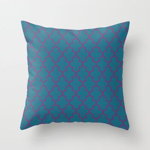 Peacock Tiles Pillow Cover | dotandbo.com