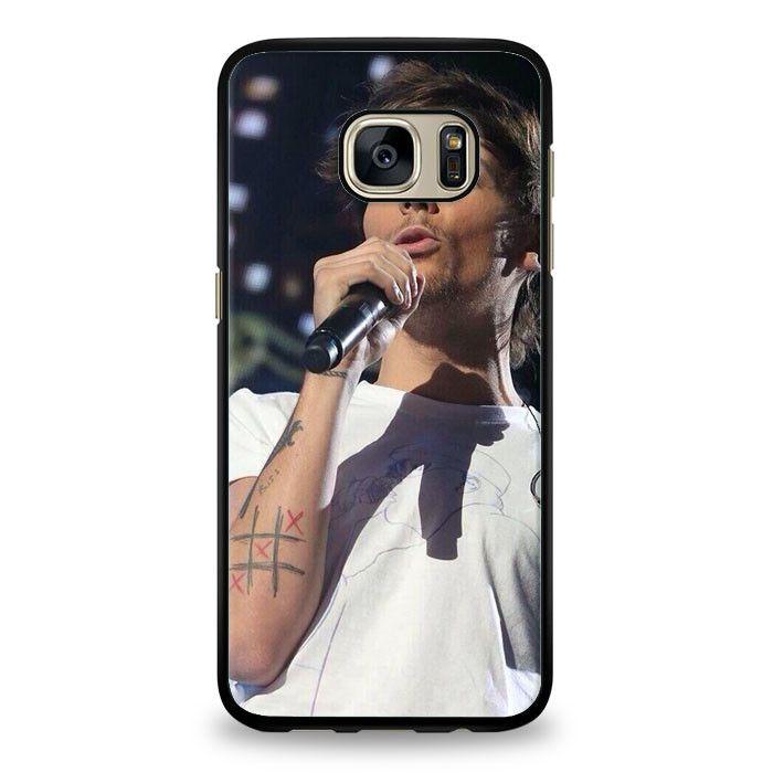 Louis Tomlinson eating pizza Samsung Galaxy S6 Edge Plus Case | yukitacase.com
