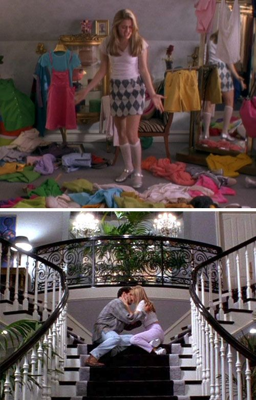 Clueless- One of my first movie Loves.  Could this lifestyle be any crazier??? I wish I could have this house and the computerized closet :)