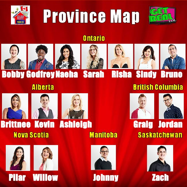 Big Brother Canada 3 | Province Map