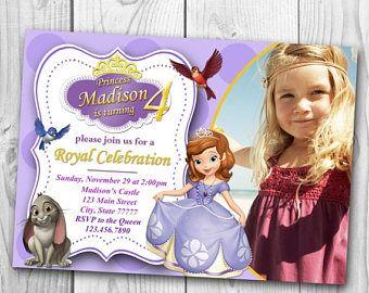 Resultado de imagen de princess sofia party invitation