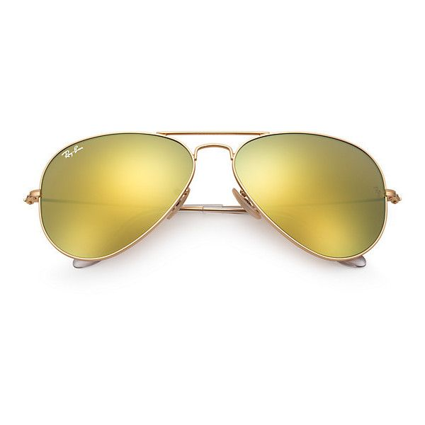 ray ban aviator sunglasses yellow  ray ban aviator gold sunglasses, yellow flash lenses rb3025 ($175) ?