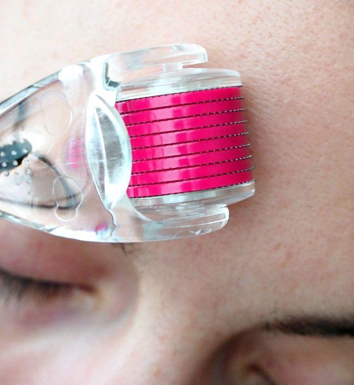 beauty roller anwendung stirn