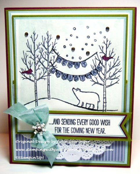 White Christmas www.stampingwithlinda.com Check out my Stamp of the Month Kit Program