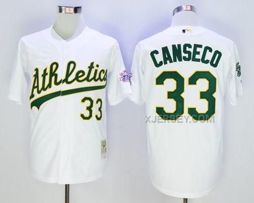 http://www.xjersey.com/athletics-33-jose-canseco-white-throwback-jersey.html Only$35.00 ATHLETICS 33 JOSE CANSECO WHITE THROWBACK JERSEY #Free #Shipping!