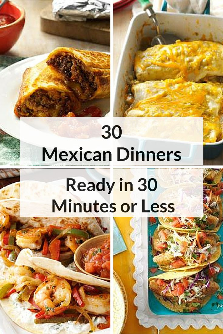 Fast easy mexican dinner recipes
