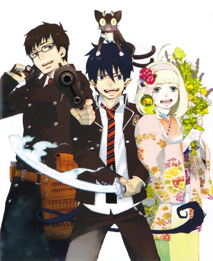 Ao no Exorcist, blue exorcist, yukio okumura, rin okumura, shiemi moriyama, kuro