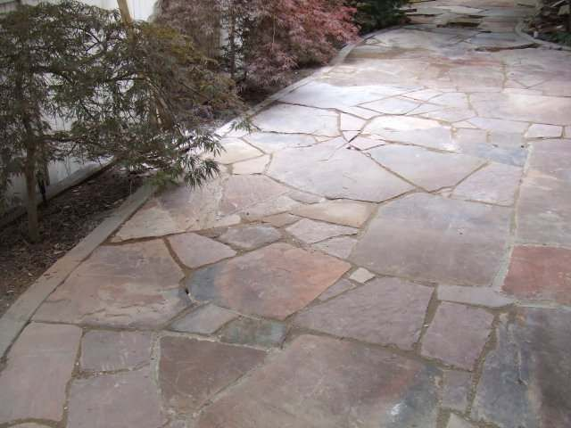 Natural flagstone walkway for the home pinterest for Natural stone walkways