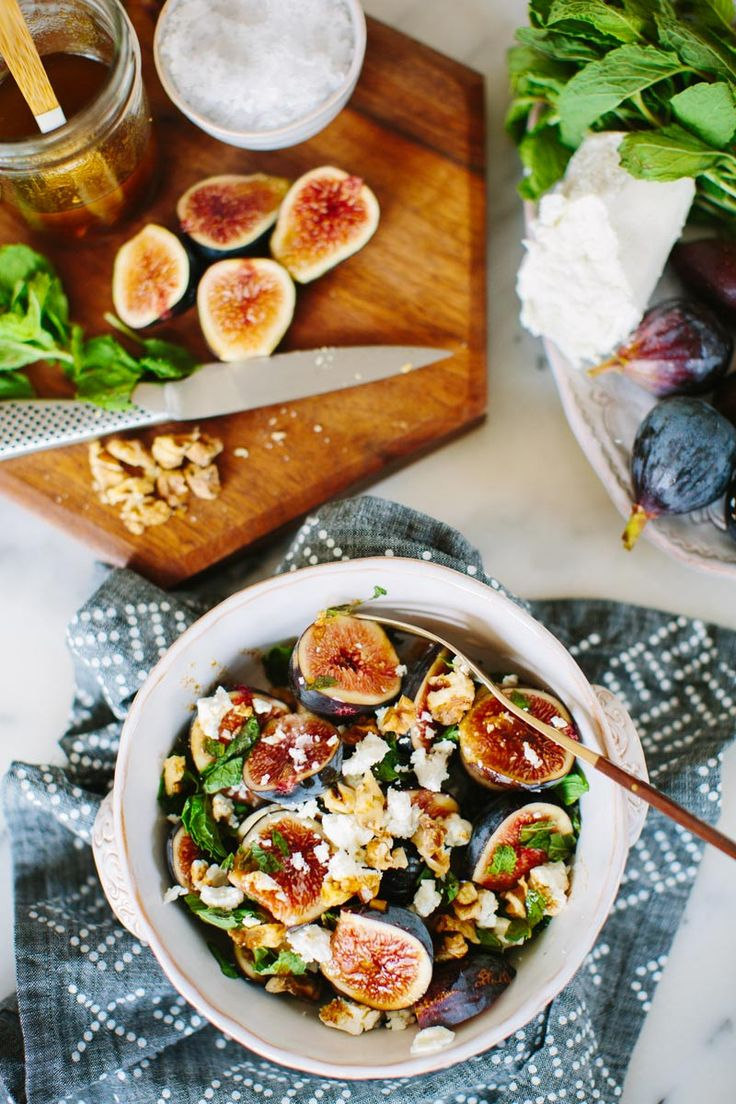 Fig, Mint, and Goat Cheese Salad