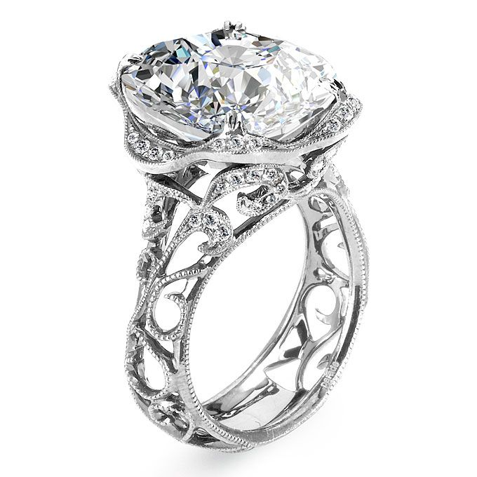 Brides Over The Top Engagement Rings Style R2784 18k