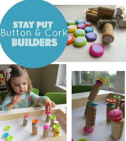 Therapy Activity of the Week: {Fine Motor} Button & Cork Builders - pinned by @PediaStaff – Please Visit ht.ly/63sNt for all our pediatric therapy pins