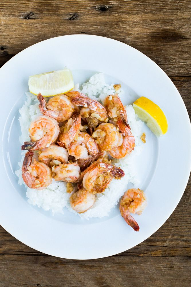 Hawaii-Style Garlic Shrimp
