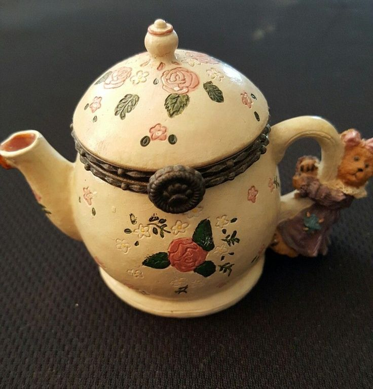 Boyds Bears Treasure Boxes Verna's Teapot #392122 Retired Hard to Find