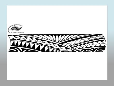 Polynesian Style Arm Tattoo Designs