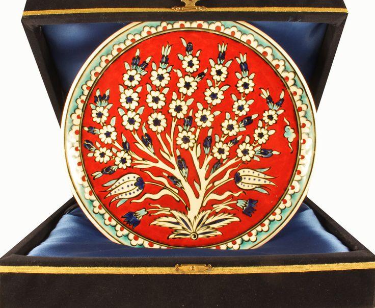 Turkish ceramic Tree Of Life Nicea Ceramic Plate by NiceaCeramics