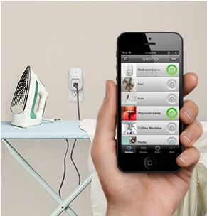 Belkin Wi-Fi enabled WeMo Switch - works with  Android and IOS with free WeMo App to give you wireless control of your home appliances and electronics. .