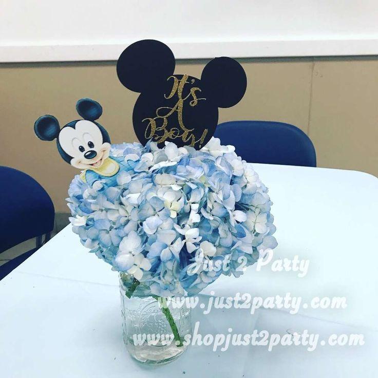Margot's Baby Mickey baby shower  | CatchMyParty.com