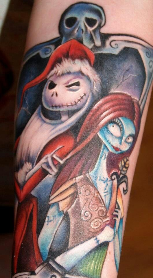 jack and sally nightmare before christmas tattoo - photo #31