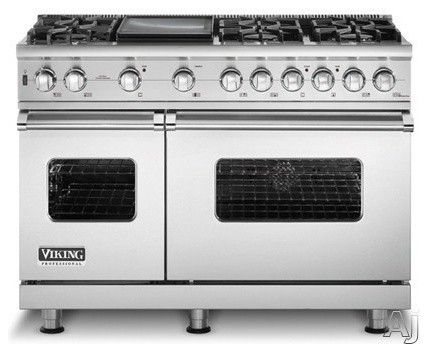 """Viking 48"""" Sealed Burner Pro Style Range with 6 Burners & Griddle - eclectic - gas ranges and electric ranges - other metros - us-appliance.com"""