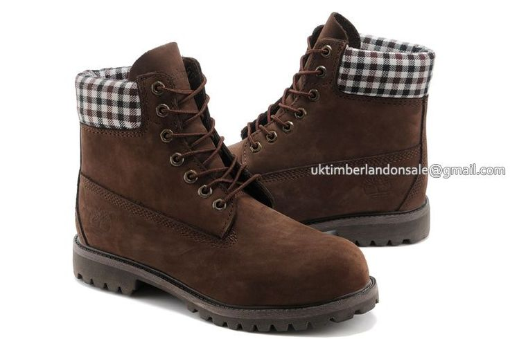 Timberland 6 Inch Boots For Women Earthkeepers Iconic Plaid Brown $ 73.00