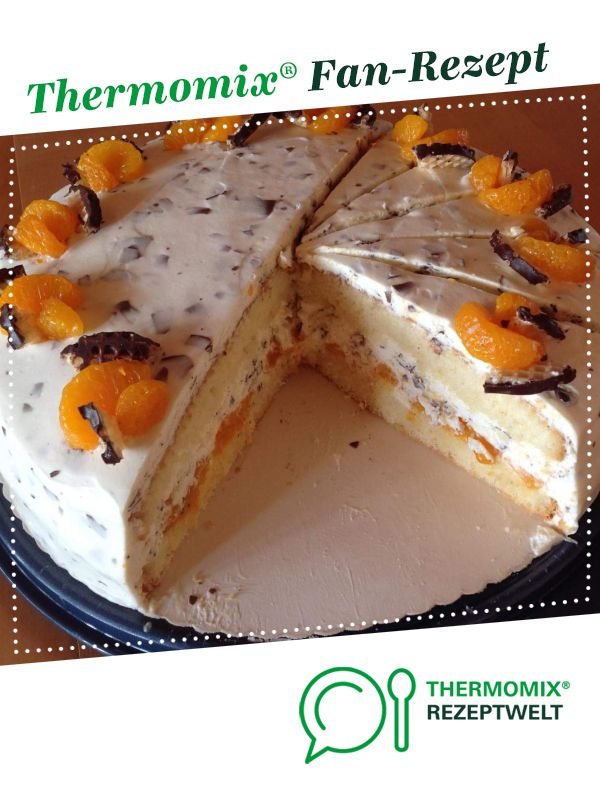 Chocolate cake with tangerines  – Thermomix