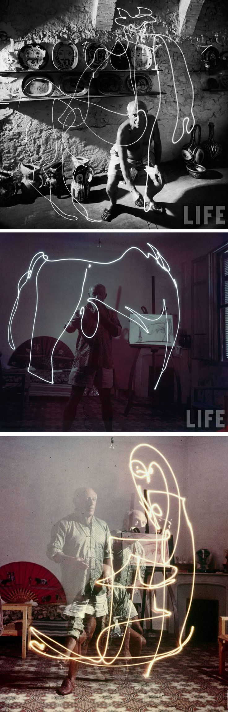 Picasso's light painting