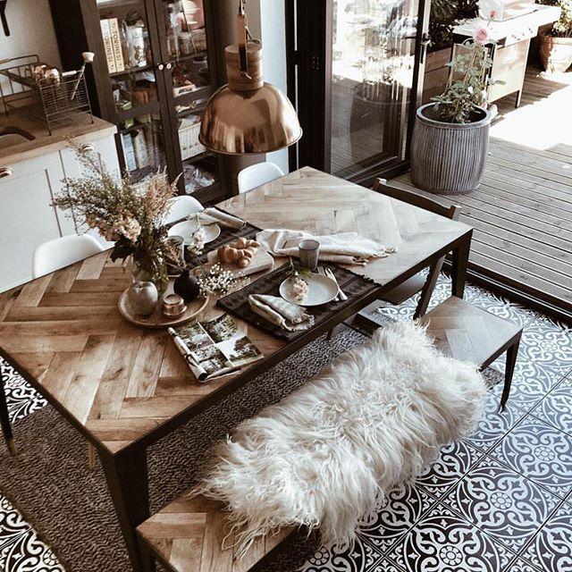 One more amazing floor   @hygge_for_home #floortiles #floors #kitchen #kitchendesign #gulv #kjøkken #interior_delux