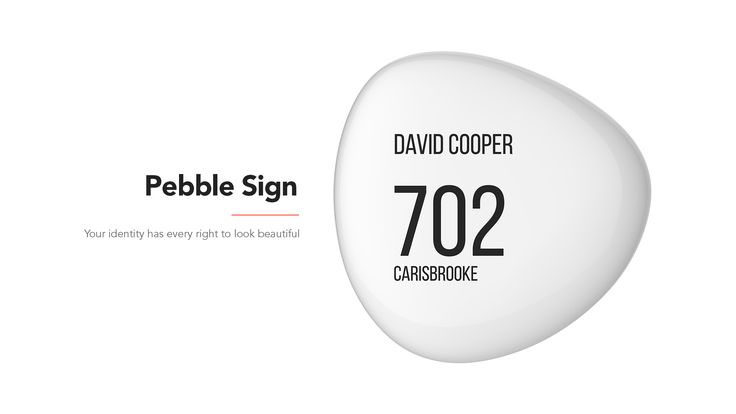 Pebble home sign is a customized handmade premium name plate,inspired from curved shape of pebbles. We believe your nameshould shine brightly and speak of your status symbol.Pebble Home Sign just simply do that.