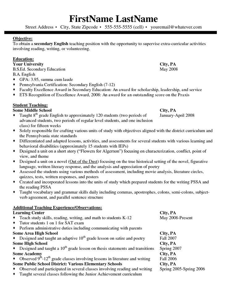 Pin on Best resume template design ideas