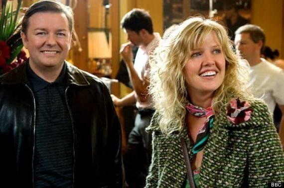 (PHOTO: BBC)  Before They Were Famous: The Celebrities You Didn't Spot In Classic Sitcoms:  Ashley Jensen in 'The Office' (2003) After appearing in 'Extras' alongside Ricky Gervais, Ashley's career took her Stateside for 'Ugly Betty'.  Before that though, she popped up and made an uncredited appearance in The Office's 2003 Christmas special.