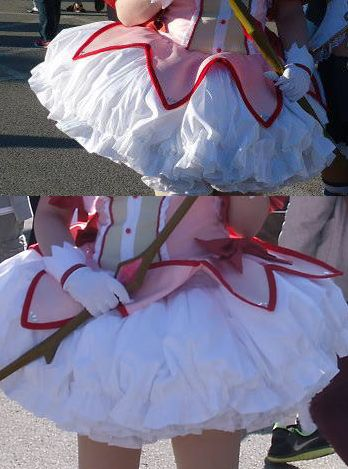 Madoka's magical girl skirt. Click on the picture to see the links!