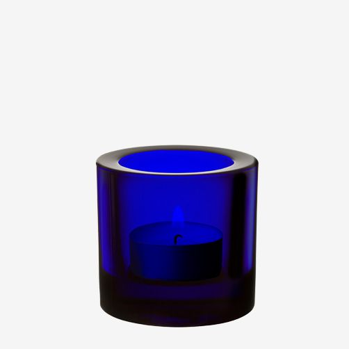iittala glass Kivi - cobalt blue