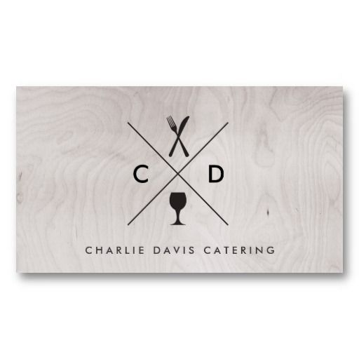 Customizable Business Card for Catering, Chefs, Restaurants and Food Trucks