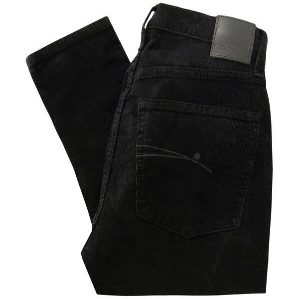 Nobody Cult Skinny Black Cord Jeans ($290) ❤ liked on Polyvore