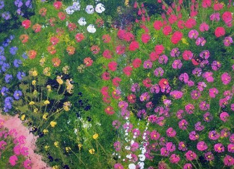 """""""Garden"""" painted by blind veteran John Hodgson"""