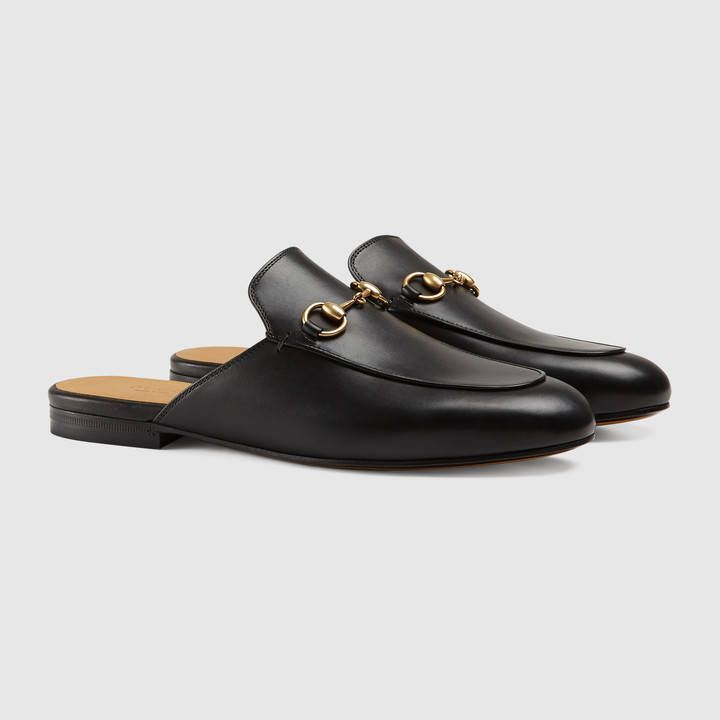 5464ac839ba72 Tendance Chaussures 2017/ 2018 : Gucci Women Princetown leather slipper  423513BLM001000