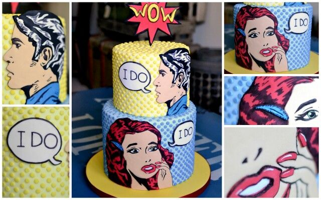 Pop art wedding cake :)