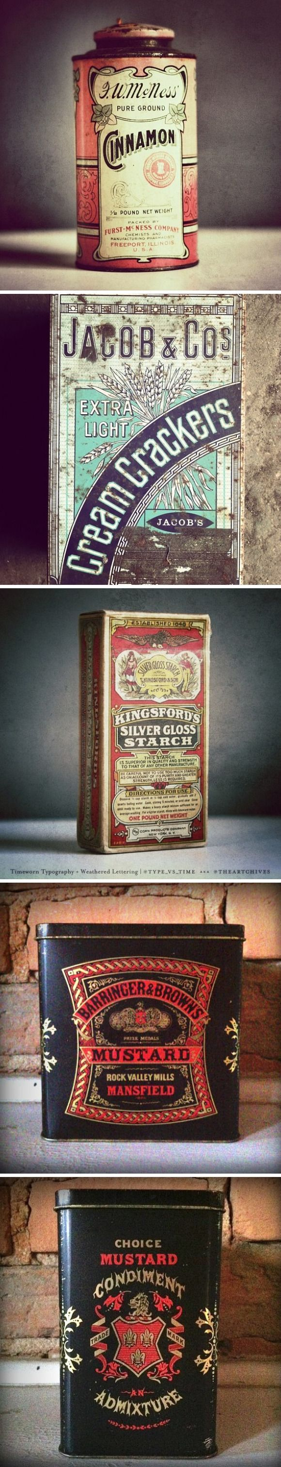 vintage packaging via type vs time collection