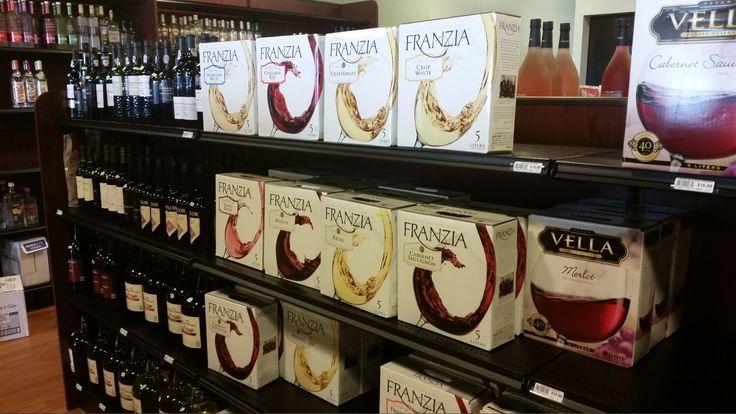 Franzia Boxed Wine On Handy Store Fixtures Texture Black