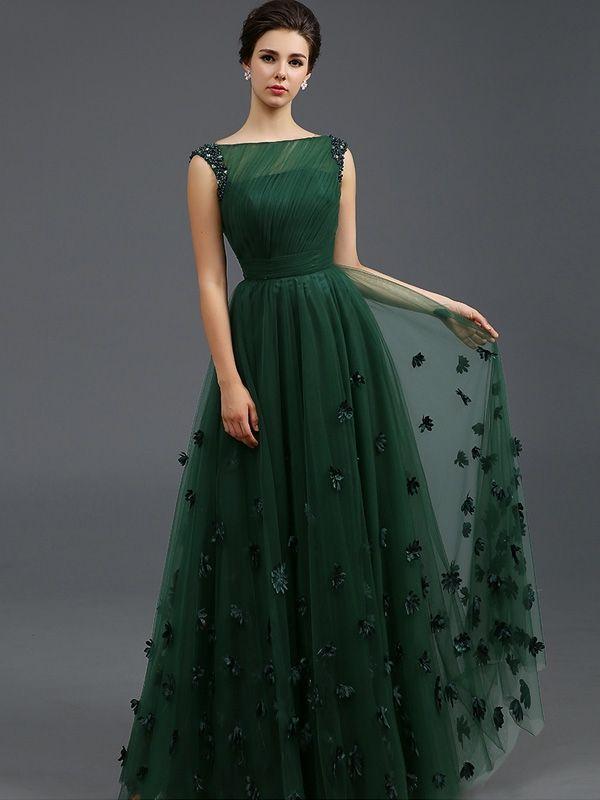 Solid Color Stereo Flower Sleeveless Tulle Elegant Dresses  party  wedding  Випускні Сукні 7737453f0f1c0