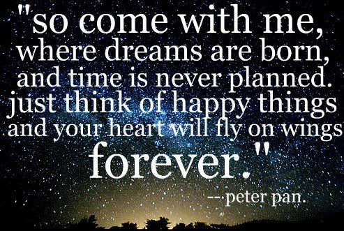 song lyrics from broadway production of peter pan. brings me back to childhood years with taylor :)